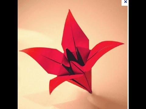 origami facile fleur iris