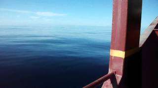 Sea like glass, North Atlantic Ocean Crossing on General Cargo Ship