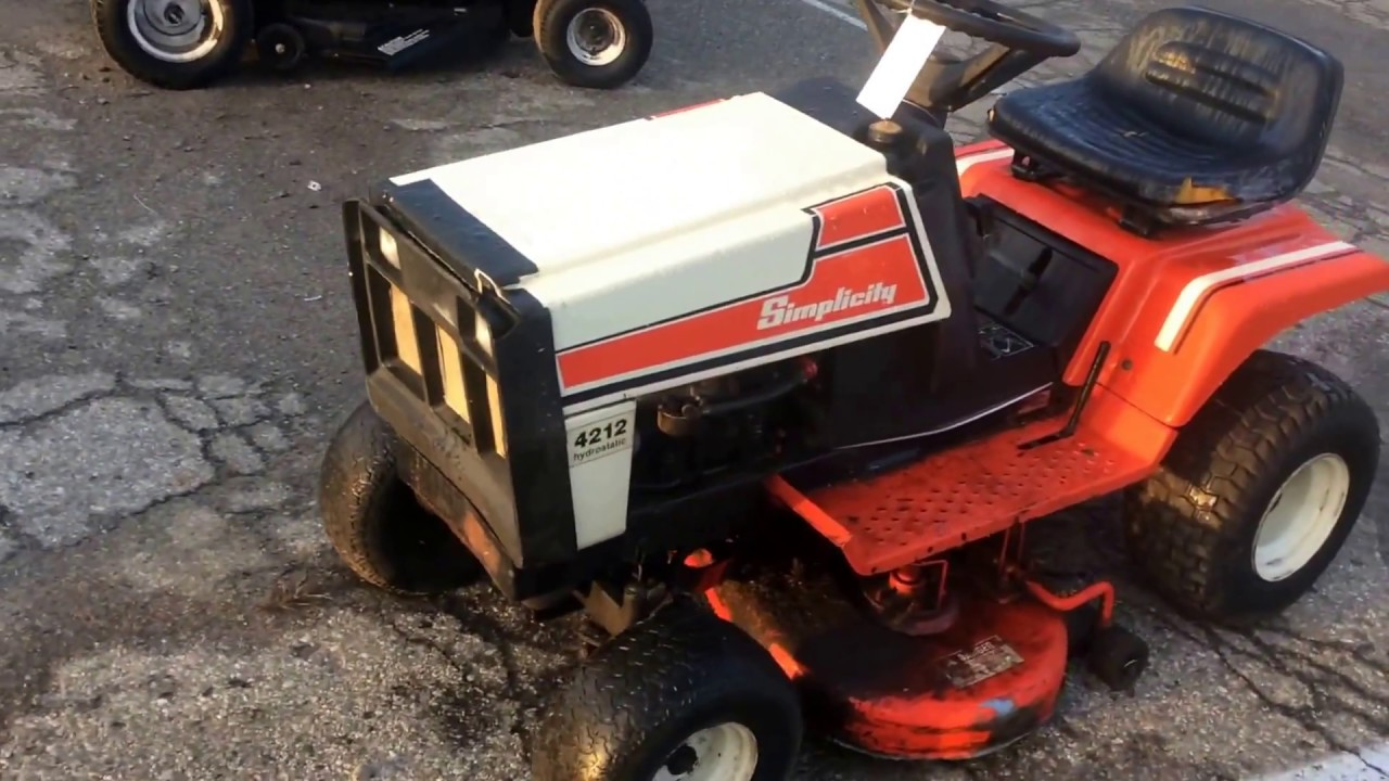 Simplicity 4212 Lawn Tractor | For Sale | Online Auction