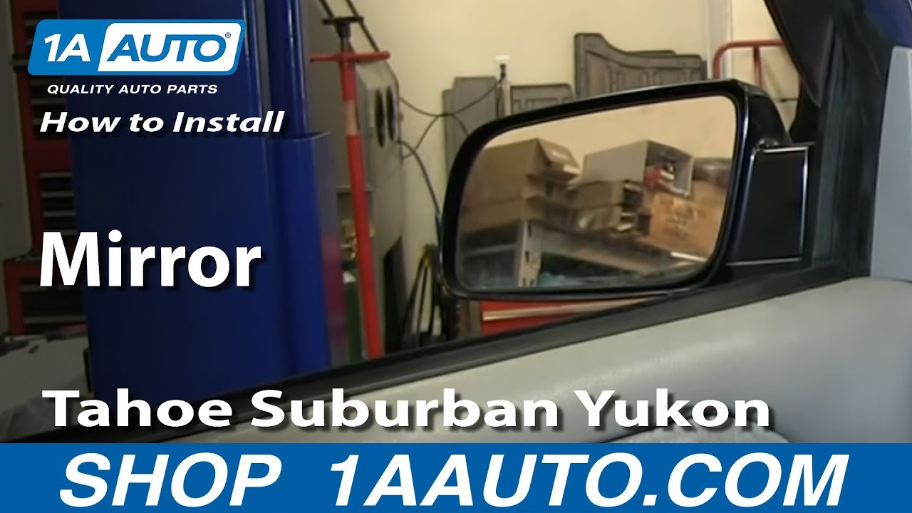 medium resolution of how to replace mirror 95 00 chevy tahoe