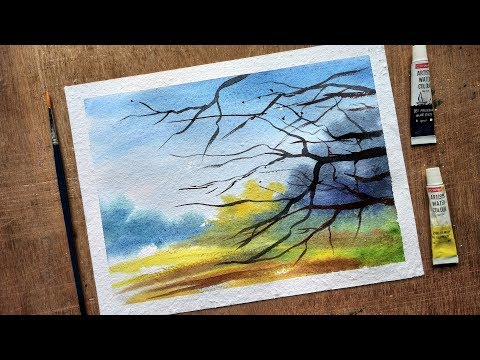 Time Lapse Painting | Watercolor Landscape Painting