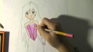 Watch me draw|| Flora from Winx club