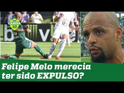 Resultado de imagem para Felipe Melo falta em santos fc