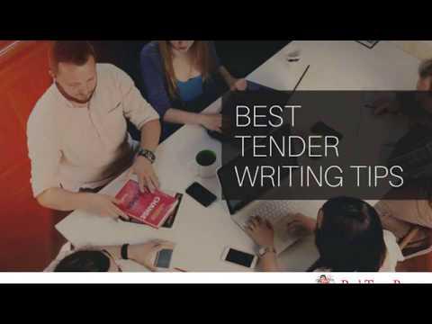 Best Tender Writing Tips