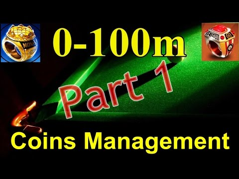 8 Ball Pool - 0-100m [Part 1] Coins Management (Thor Hammer Cue)
