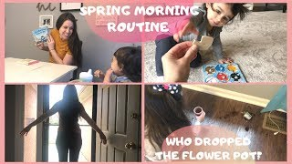SPRING MORNING ROUTINE | Homeschooling Mom of 2
