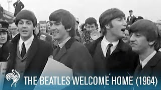 The Beatles Welcome Home to England (1964) | British Pathé
