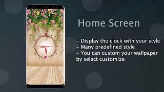 Clock live wallpaper - live demo screenshot 1