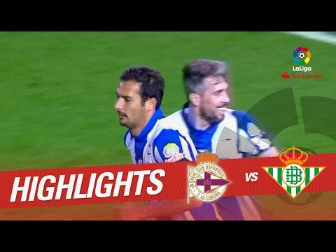 Resumen de Deportivo de la Coruña vs Real Betis (1-1)