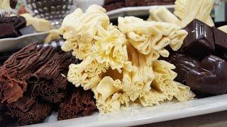 Chocolate semiamargo templado en rama y bombones