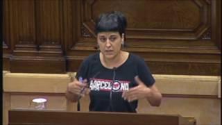 """Anna Gabriel: """"Cal garantir el referèndum. Poseu les urnes que la gent posarem la resta"""""""