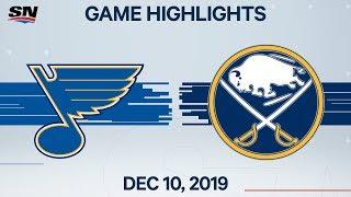 NHL Highlights   Blues vs. Sabres – Dec. 10, 2019