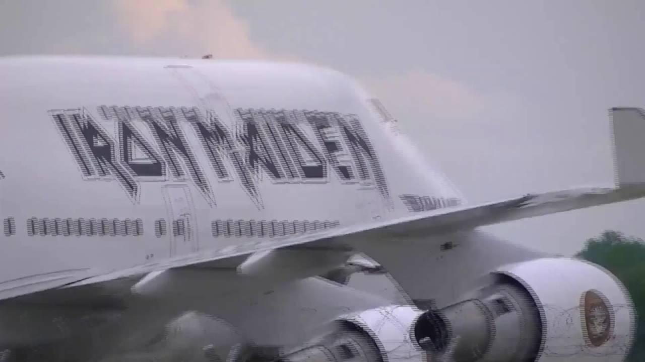 iron maiden-flugzeug : münchen - youtube