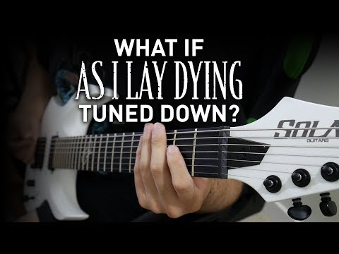 What If As I Lay Dying Tuned Down? (7 String Guitar As I Lay Dying Guitar Riff Compilation)