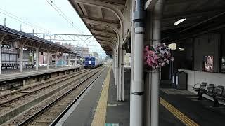 キハ40形 快速 越乃Shu*Kura 高田駅 発車
