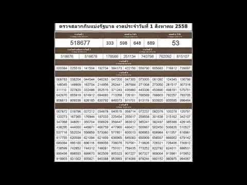 ตรวจหวย 1/8/58 ตรวจสลากกินแบ่งรัฐบาล วันที่ 1 สิงหาคม 2558
