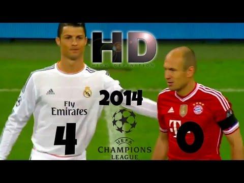 Real Madrid 4 - Bayern Munich 0 - Champions League 2014 HD