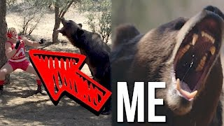 I WRESTLED A BEAR! (Raw Footage)