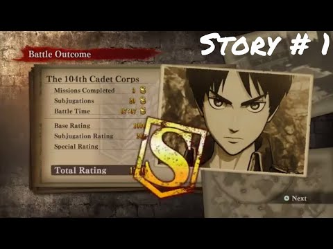 Attack On Titan: Wings Of Freedom PC Story Gameplay Eren Number 1 Cadet