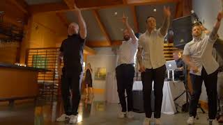 Groomsmen surprise Bride with Backstreet Boys Backstreet's Back Dance