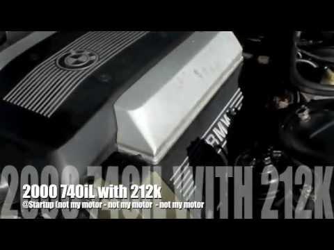 Sound of BMW e38 740iL 740i M62tu Timing Chain Guides Fail