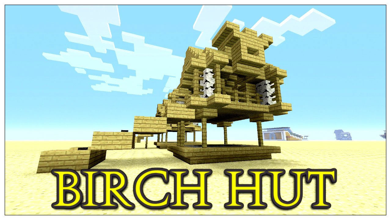 Minecraft how to build a small hut easy survival shack for How to build a small shack