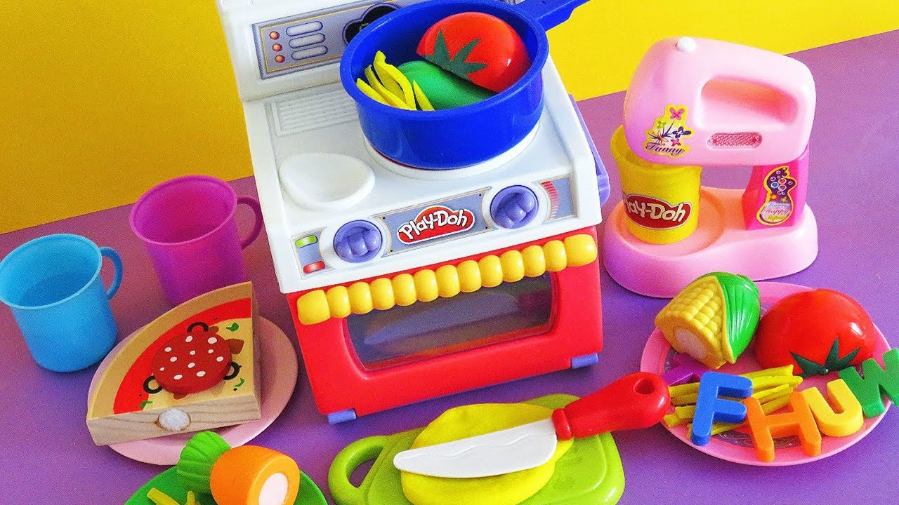Cooking Velcro Toys Playdoh Kitchen Playset Learn The