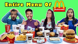 We Ordered Entire Menu Of McDonald's | Food Challnege India | Hungry Birds