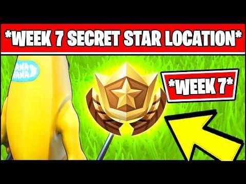WEEK 7 SECRET BATTLE STAR LOCATION SEASON 10 X (Fortnite Loading Screen 7 Battle Star)