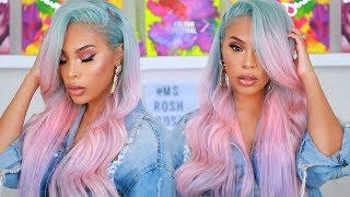 EASY WATER COLOR  OMBRE HAIR   COTTON CANDY PASTEL HAIR