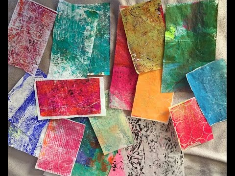 Gel Printing with Trash - Making Pretty Collage Papers