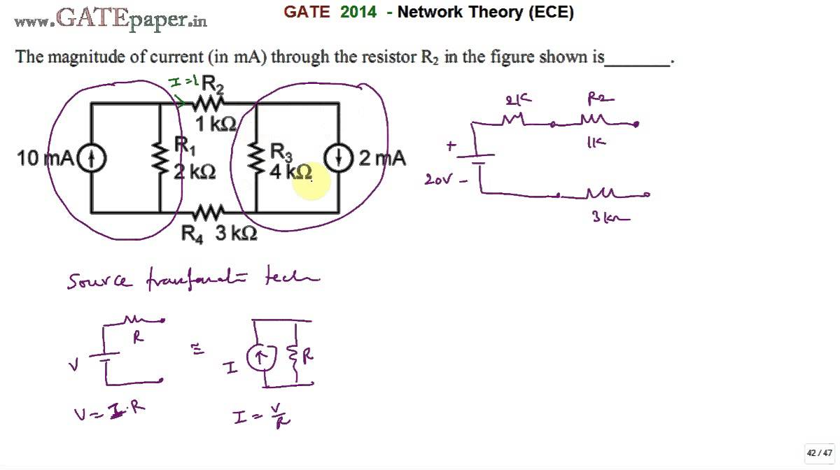Gate 2014 Ece The Magnitude Of Current Through Resistor R2 In Linearconstantcurrentsourcecircuitdiagramjpg Figure Shown