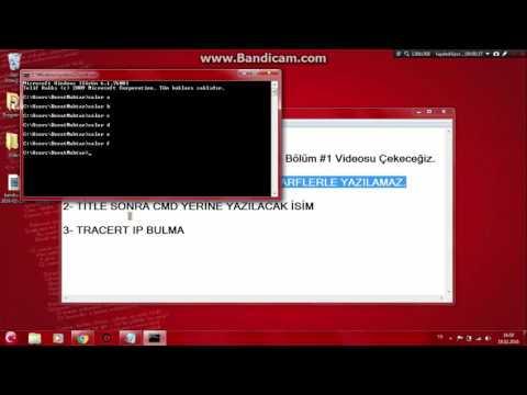 Hacker Dersleri CMD #1