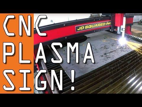 CNC Plasma Sign on JD Squared MAD 5x10!