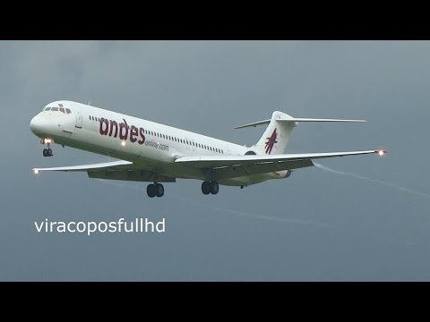 Andes MD-83 Pouso em Campinas Viracopos