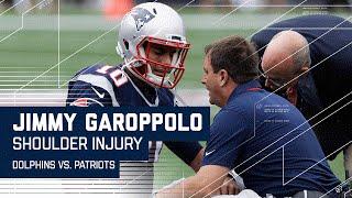 Jimmy Garoppolo Injures Shoulder | Dolphins vs. Patriots | NFL