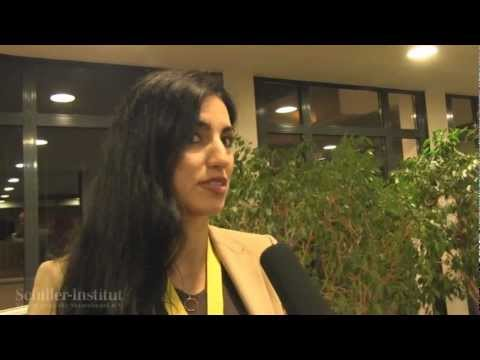 Interview with Ghoncheh Tazmini • International Conference of the Schiller-Institute 2012
