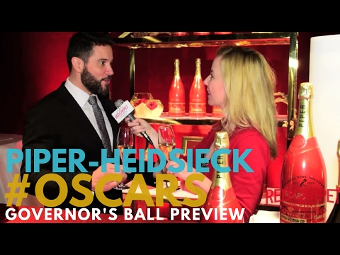 Piper-Heidsieck Champagne interviewed at 89th Oscars Governors Ball press preview