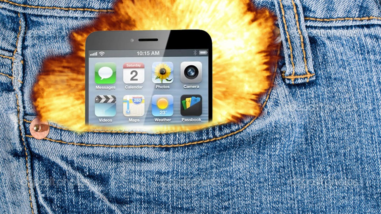iPhone Blows Up In Man's Pocket - YouTube