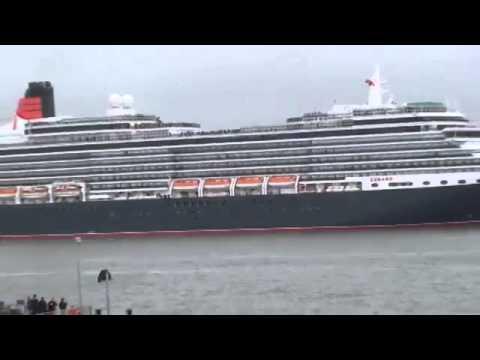 Cunard Three Queens River Mersey 25 05 2015 Liverbirds Part 1