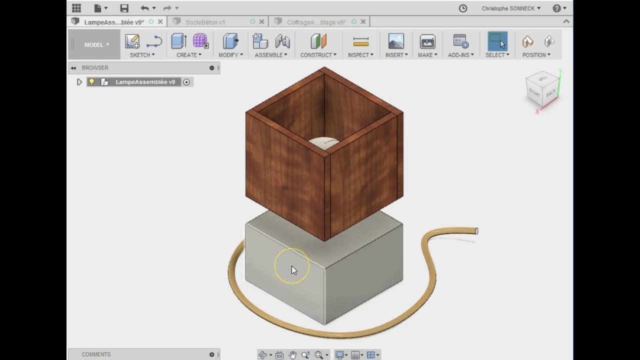 Realisation Du Socle En Beton Lampe Multimedia 1 3 Youtube