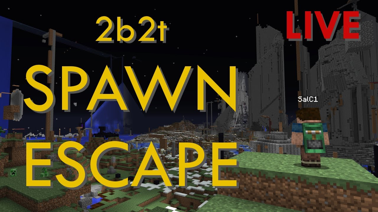 Escaping 2b2t Spawn - FACE CAM EDITION - SalC1, 506k subscribers.