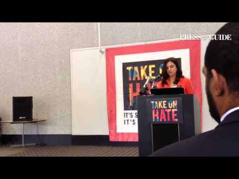 #NNAAC Director Nadia Tonova launches the #TakeOnHate campaign that challenges Arab, Muslim American