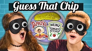 GUESS THAT CHIP CHALLENGE! | Teens Vs. Food