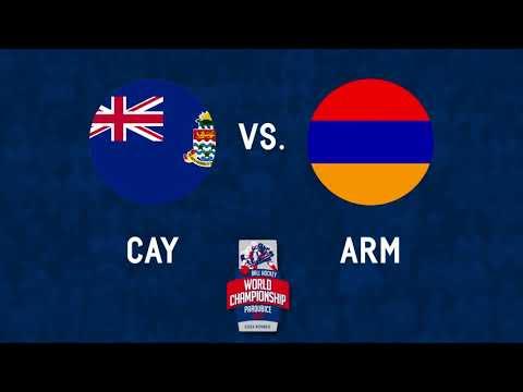 Cayman Islands vs Armenia Bronze B 2017 World Ball Hockey Championships in Pardubice, Czech Republic