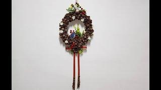 편백나무 열매로 만든 환상적인 예술 작품 DIY - F…