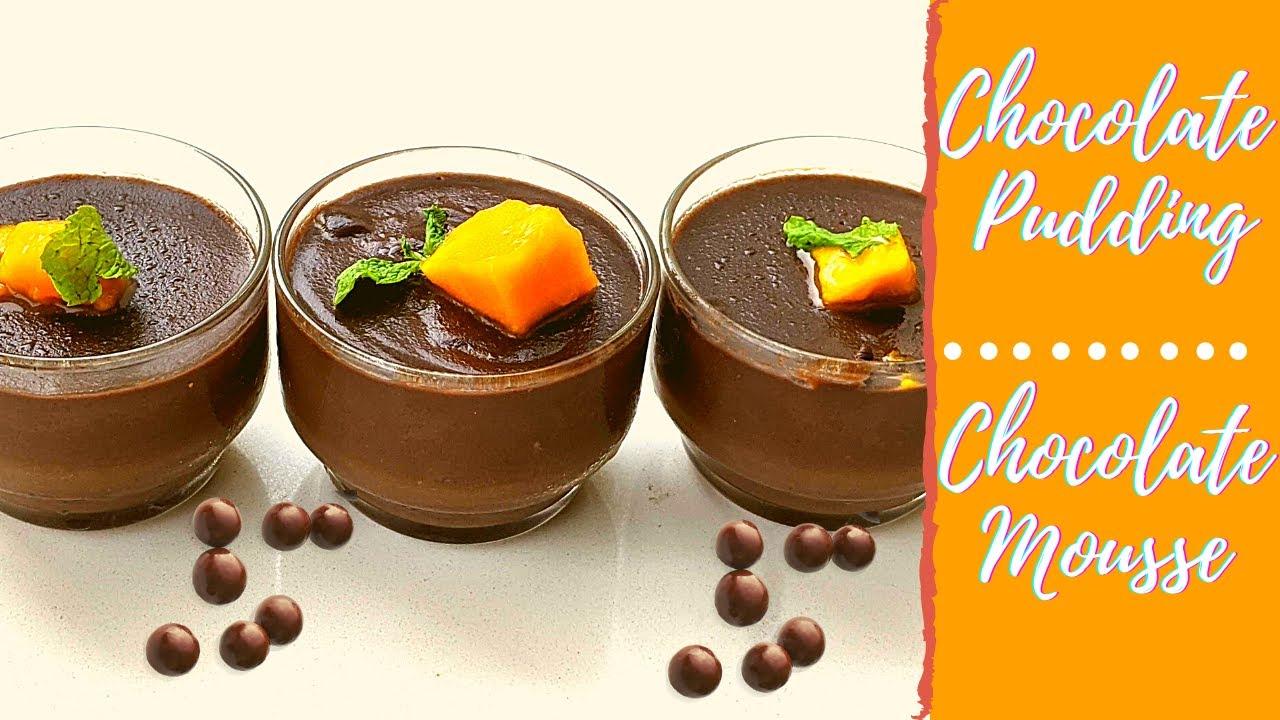 Chocolate Mousse Recipe Eggless | Chocolate Pudding | No Cornflour , No Whipped Cream