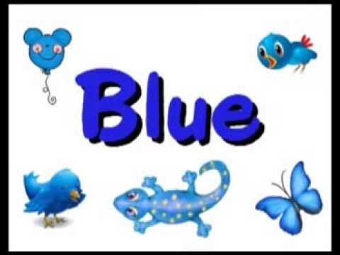 Color B L U E blue song   Kindergarten