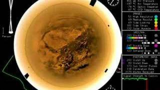 Huygens descends through Titan