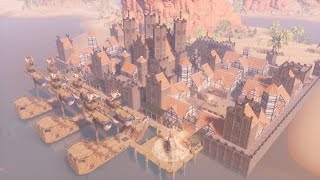 HOW TO BUILD A MEDIEVAL СITY [Timelapse] - CONAN EXILES isle of siptah
